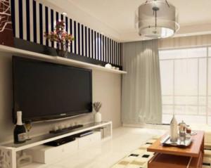 90平米现代简约客厅电视背景墙装修效果图
