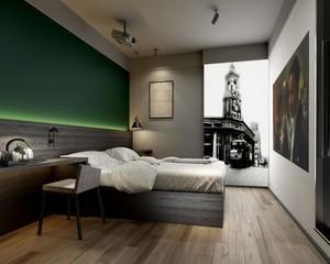 简约风格酒店室内装修设计效果图