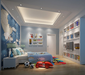 大户型地中海风格儿童房装修设计图