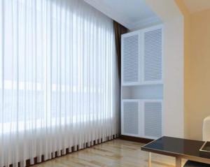 现代简约客厅窗帘装修设计效果图