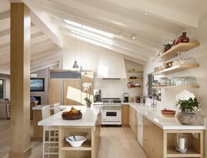 斜顶厨房吊顶装修效果图
