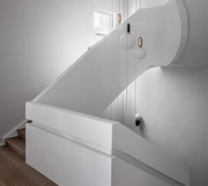 北欧风格别墅楼梯间装修效果图