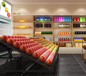 现代时尚水果店装修效果图