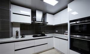 现代黑白风格厨房吊顶装修效果图