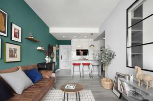 混搭风格二居室吧台设计图欣赏
