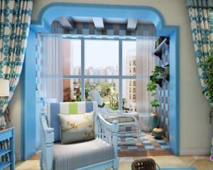 地中海风格阳台装修设计效果图