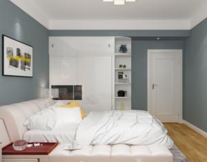 现代简约卧室颜色装修设计效果图
