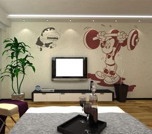 现代简约家装风格电视背景墙效果