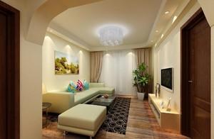 现代简约小客厅吊顶装修设计