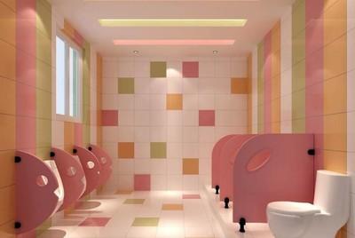 自然风格幼儿园卫生间装修效果图
