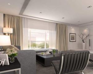 现代简约客厅窗帘装修设计效果图赏析