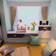 二居室小清新飘窗装修效果图