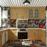 L型厨房橱柜装修效果图