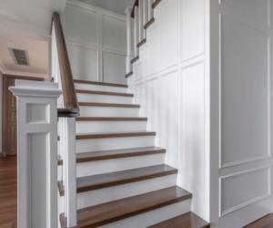 美式风格豪宅楼梯设计效果图欣赏