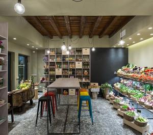 40平现代风格水果店装修效果图
