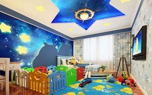 儿童房星空吊顶装修效果图