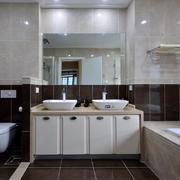 现代风格卫浴瓷砖装修效果图
