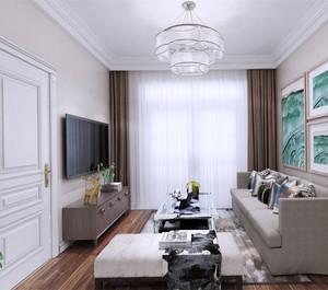小户型简欧风格客厅装修效果图
