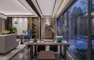新古典风格别墅侧厅吊顶装修效果图