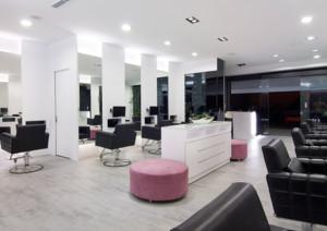 现代风格美发店大厅装修效果图