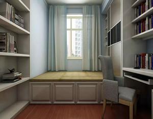 双层榻榻米床柜一体效果图