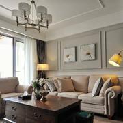 新古典小客厅吊顶装修效果图