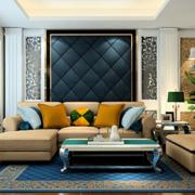 现代简约客厅沙发装修设计效果图