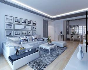 90平现代客厅沙发装修设计效果图赏析