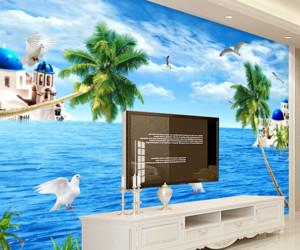90平米地中海风格电视背景墙装修效果图赏析