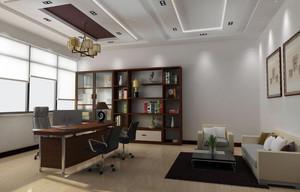 中式风格办公室装修实景图