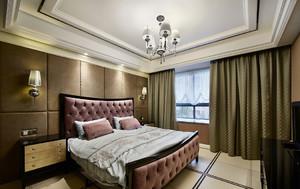 新古典暗色系卧室吊顶装修效果图