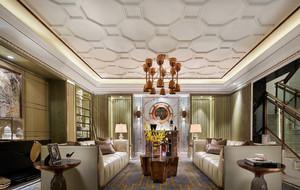新古典奢华风客厅吊顶装修效果图