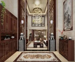中式风格玄关设计效果图赏析
