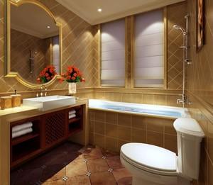 大户型卫生间瓷砖装修案例