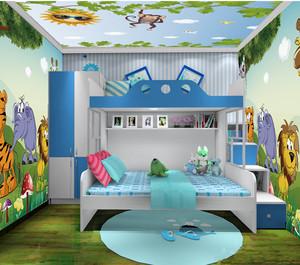 缤纷彩色卡通儿童房装修效果图