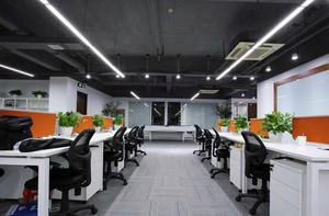 大型企业员工办公室装修效果图