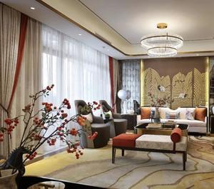 大户型中式风格客厅装修效果图赏析