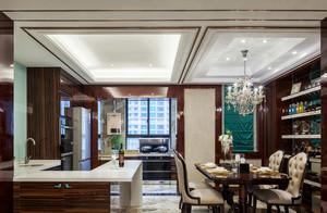 新古典奢华餐厅吊顶装修效果图