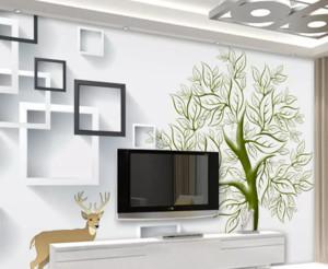 现在简约风格电视背景墙装修效果图