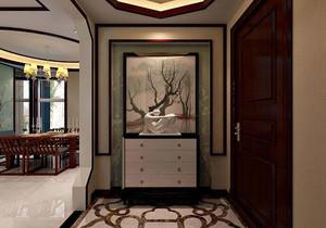 三居室欧式风格玄关装修设计效果图