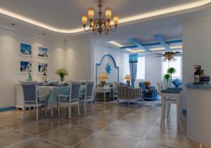 地中海风格餐厅装修图