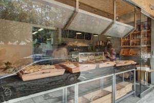 Loft风格面包店橱窗装修设计效果图