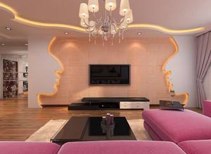 双层客厅电视背景墙装修效果图