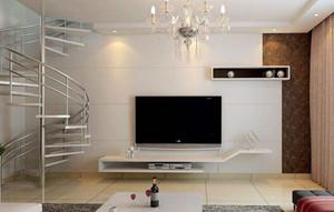 现代客厅电视背景墙装修效果图