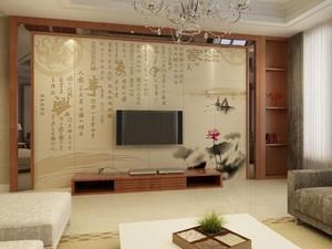 中国风电视背景墙装修效果图