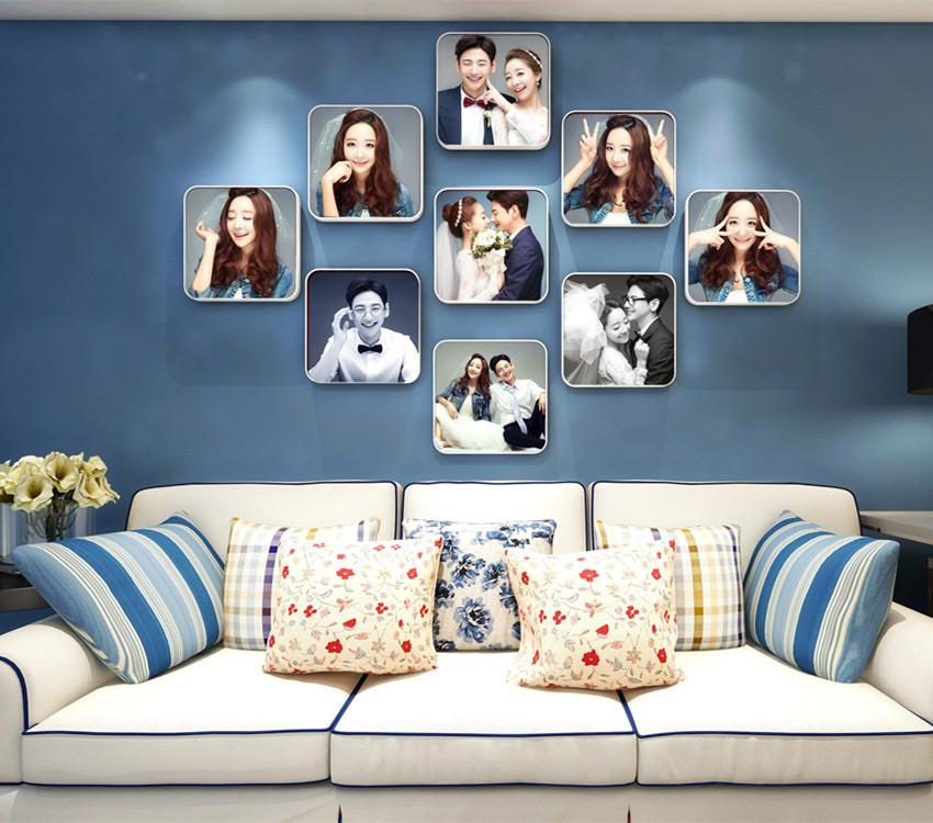 客厅照片墙装修效果图赏析