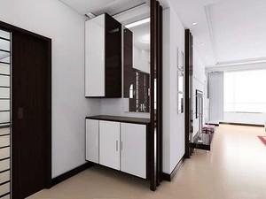 简欧风格白色玄关装修设计效果图