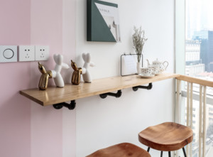 北欧撞色小公寓吧台设计图欣赏