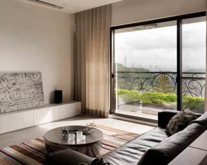 简约风格客厅窗帘装修设计效果图赏析