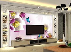 清新浪漫风格客厅电视背景墙装修